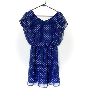 Lush Cinch Waist Polka Dot Dress